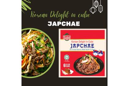 Korean Delight in Cube: Japchae