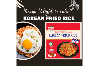 Korean Delight in Cube: Korean Fried Rice